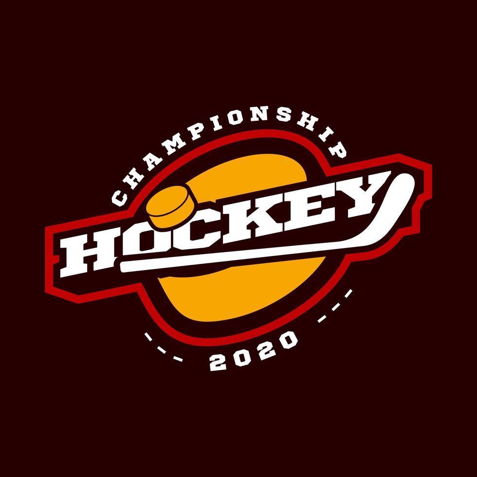 Hockey sport logo vector