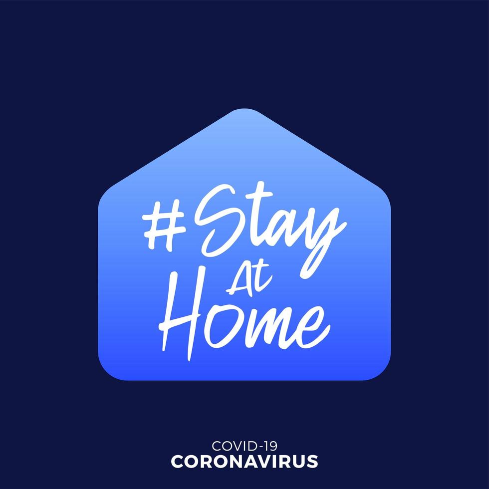 quédate en casa, mantente seguro diseño vector
