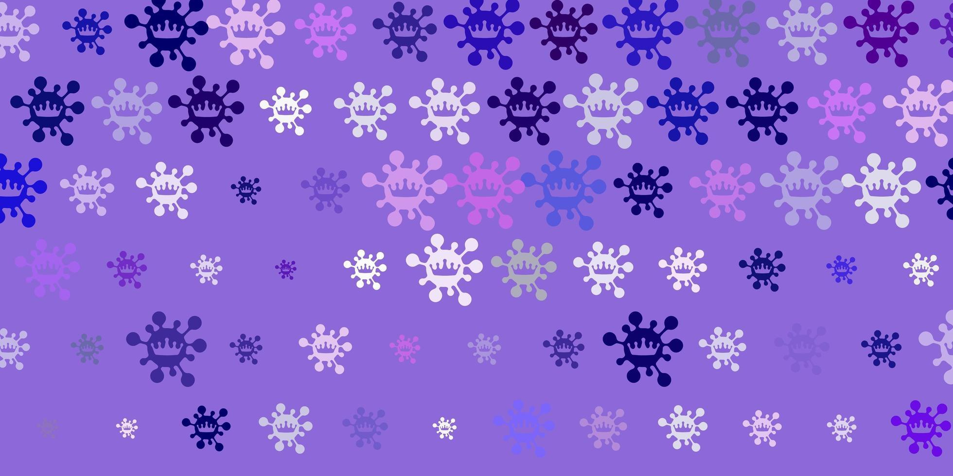 Light Purple, Pink vector texture with disease symbols.