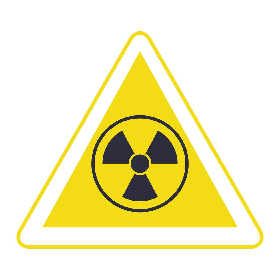 nuclear triangle signal caution icon vector