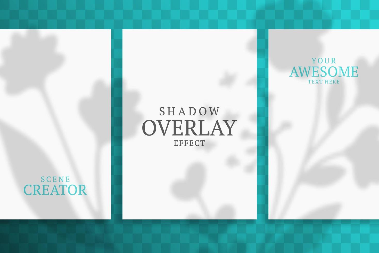 Shadow Overlay Plant Vector Mockup