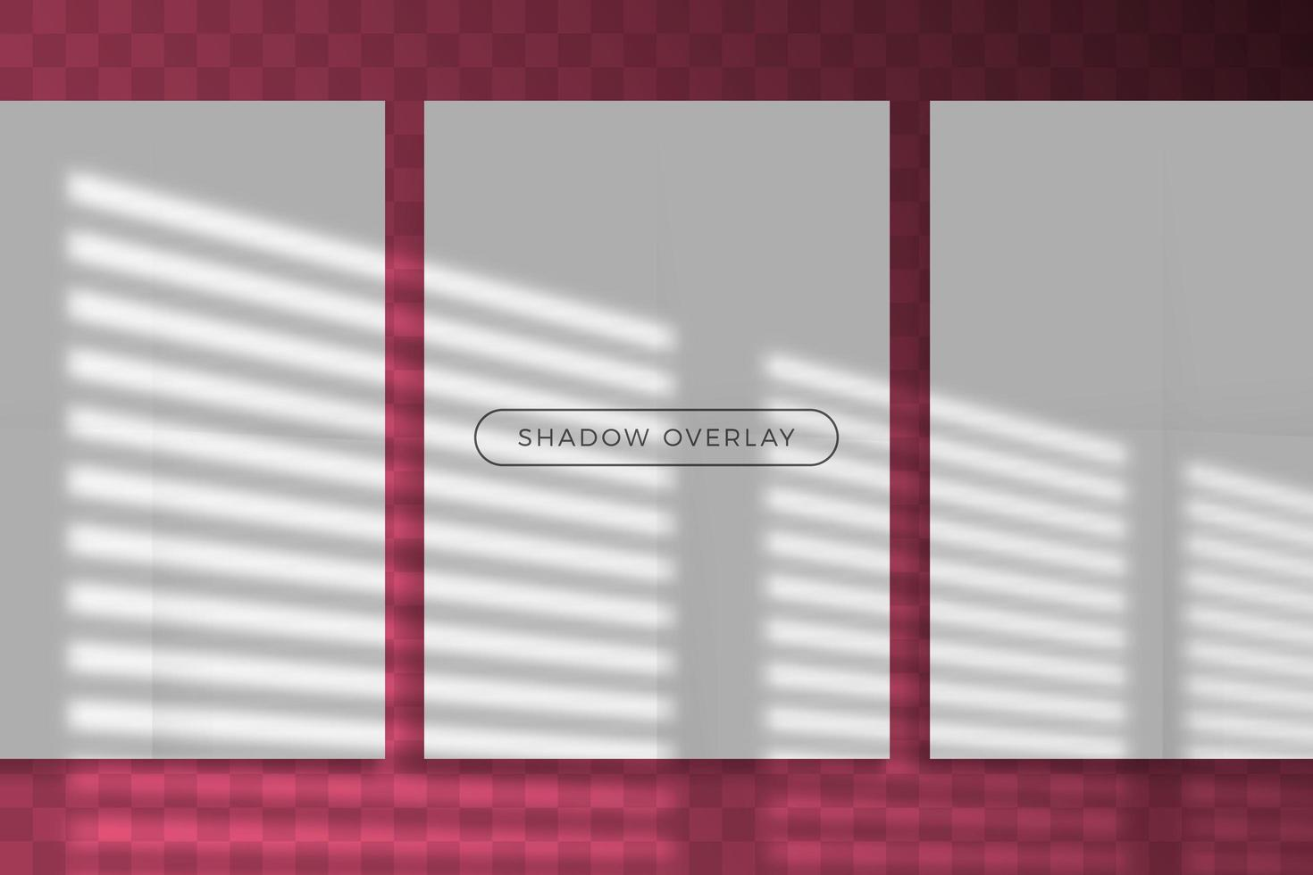 Overlay shadow of natural lighting branding mockup vector