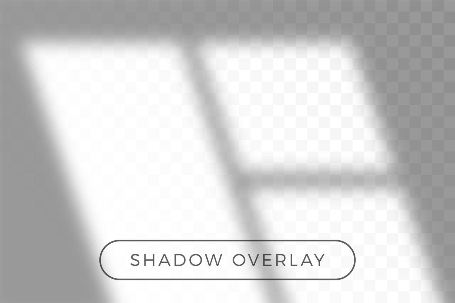 Overlay shadow of natural lighting vector