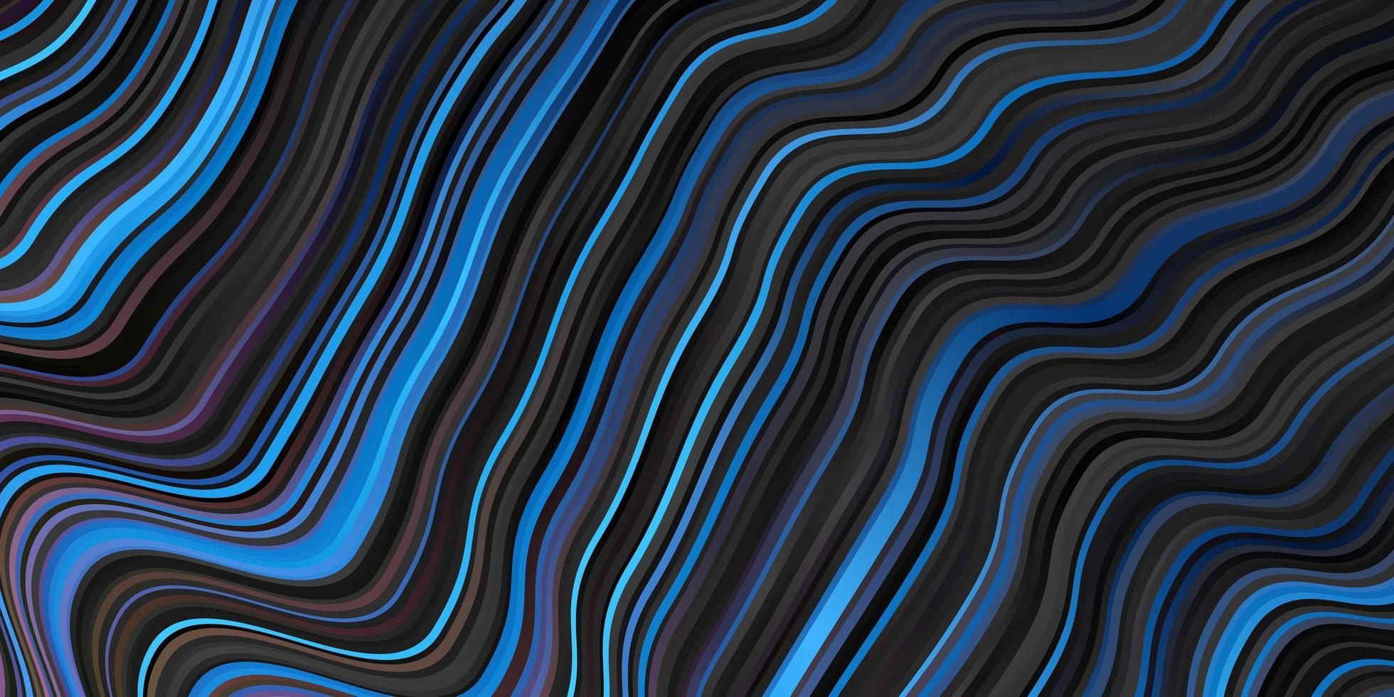 Dark Multicolor vector pattern with wry lines.