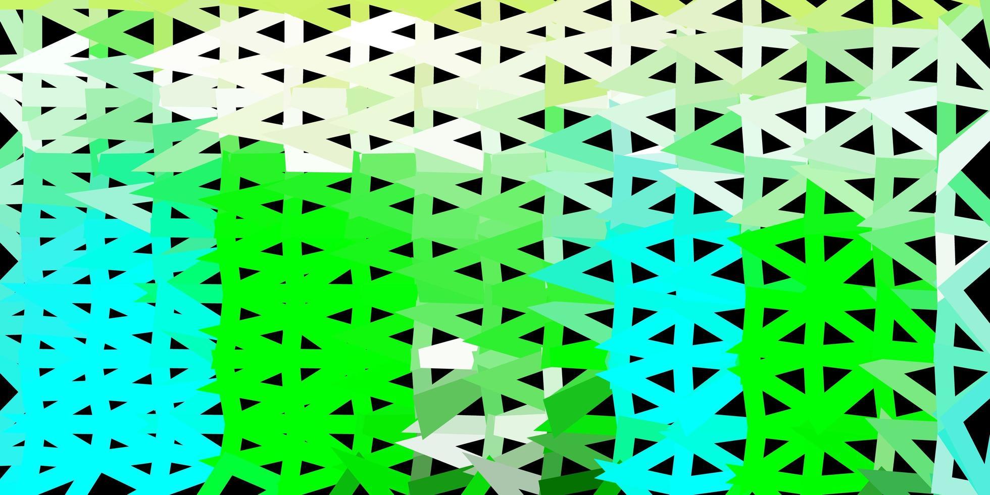 Plantilla de triángulo abstracto vector azul claro, verde.