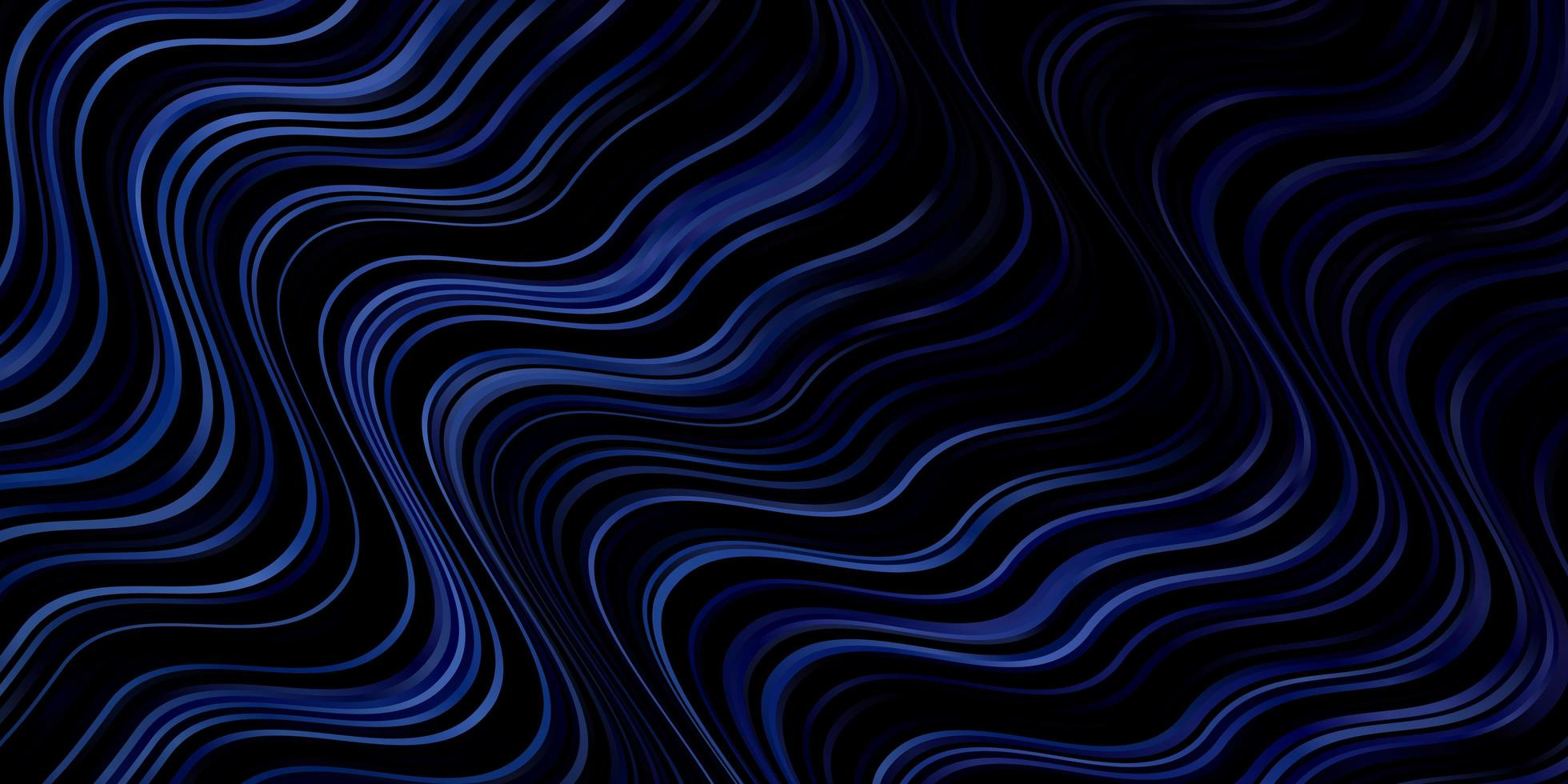 Dark BLUE vector pattern with wry lines