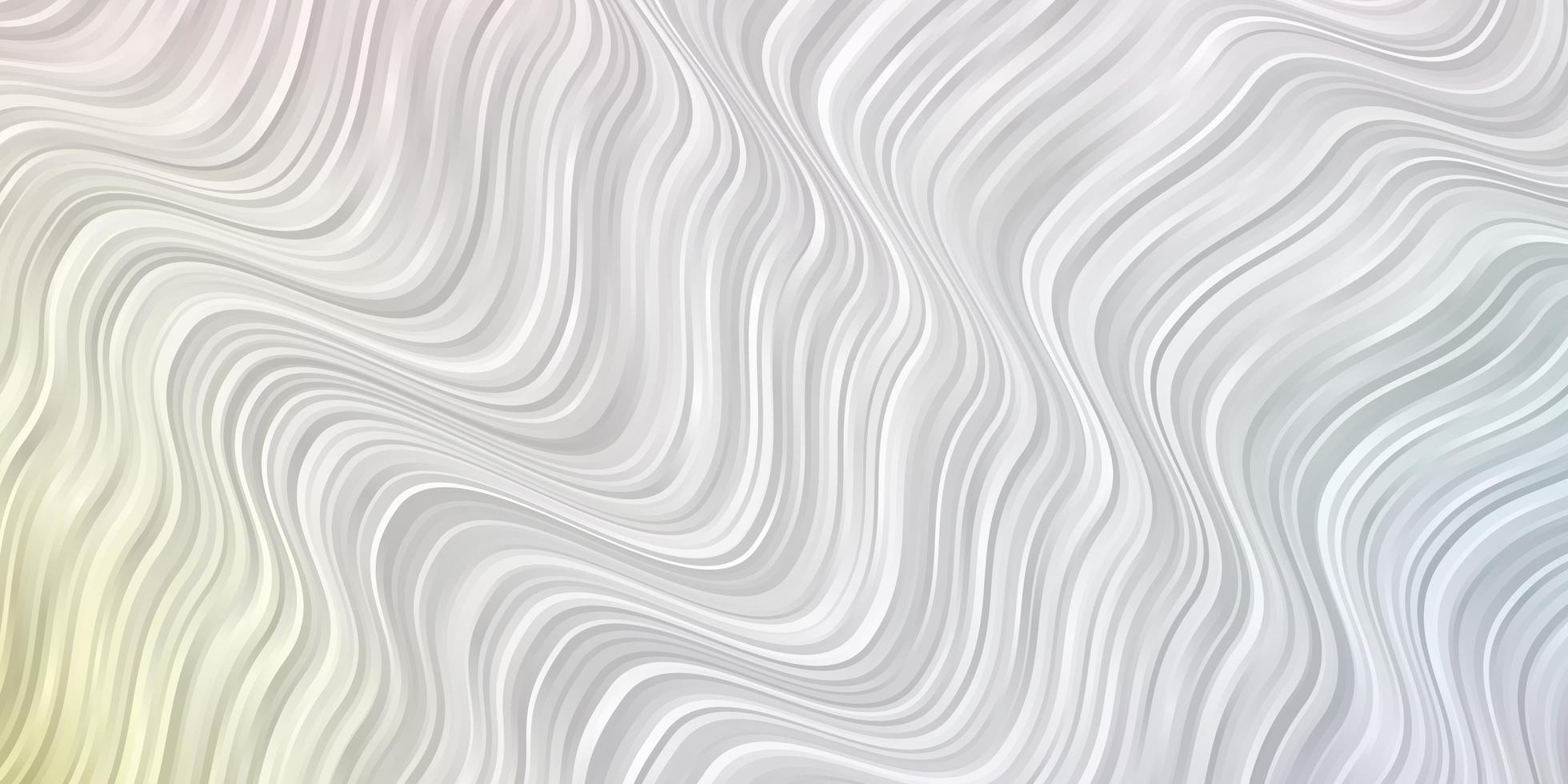 plantilla de vector multicolor claro con líneas torcidas.