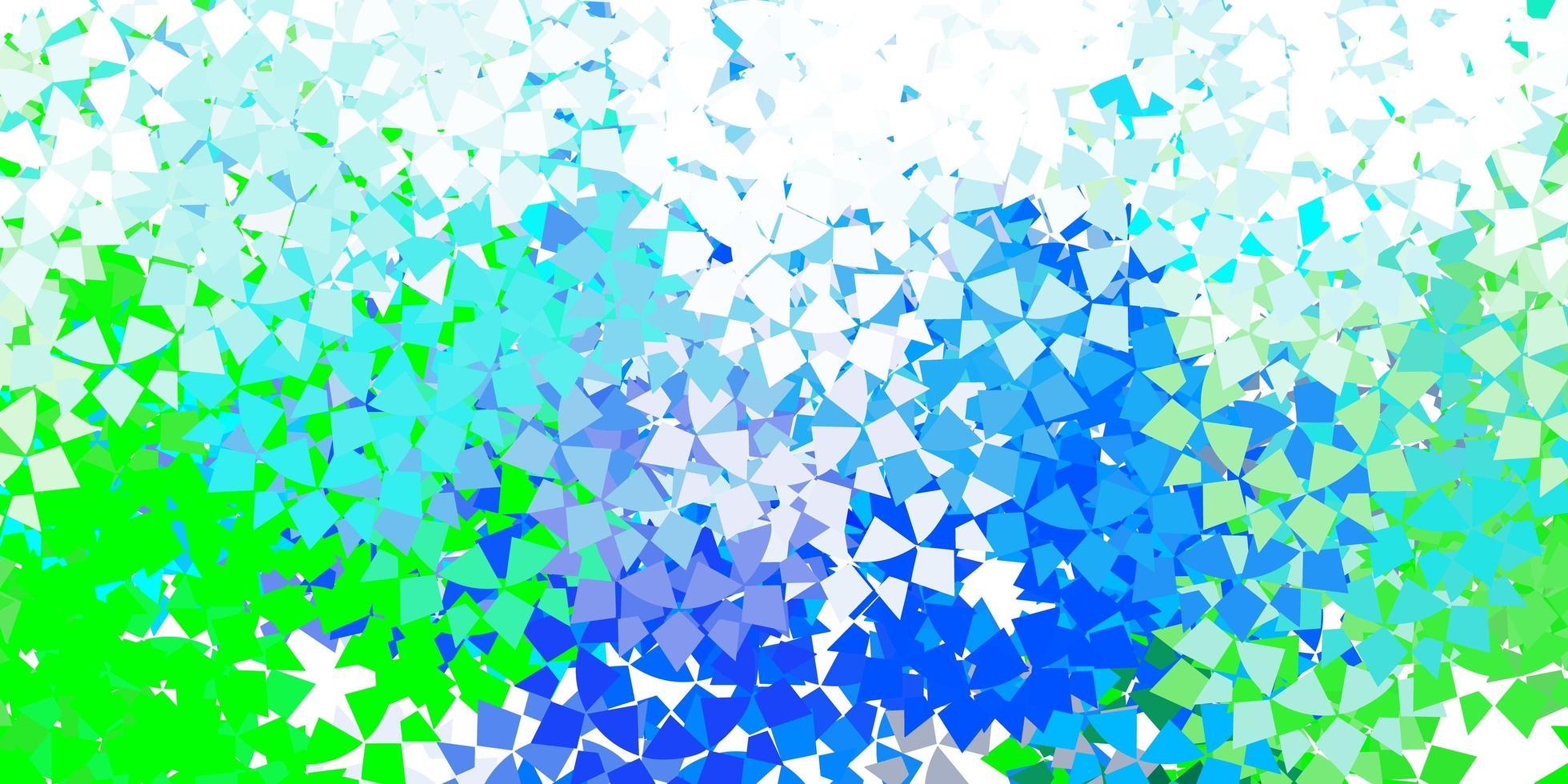 Telón de fondo de vector azul claro con líneas, triángulos.