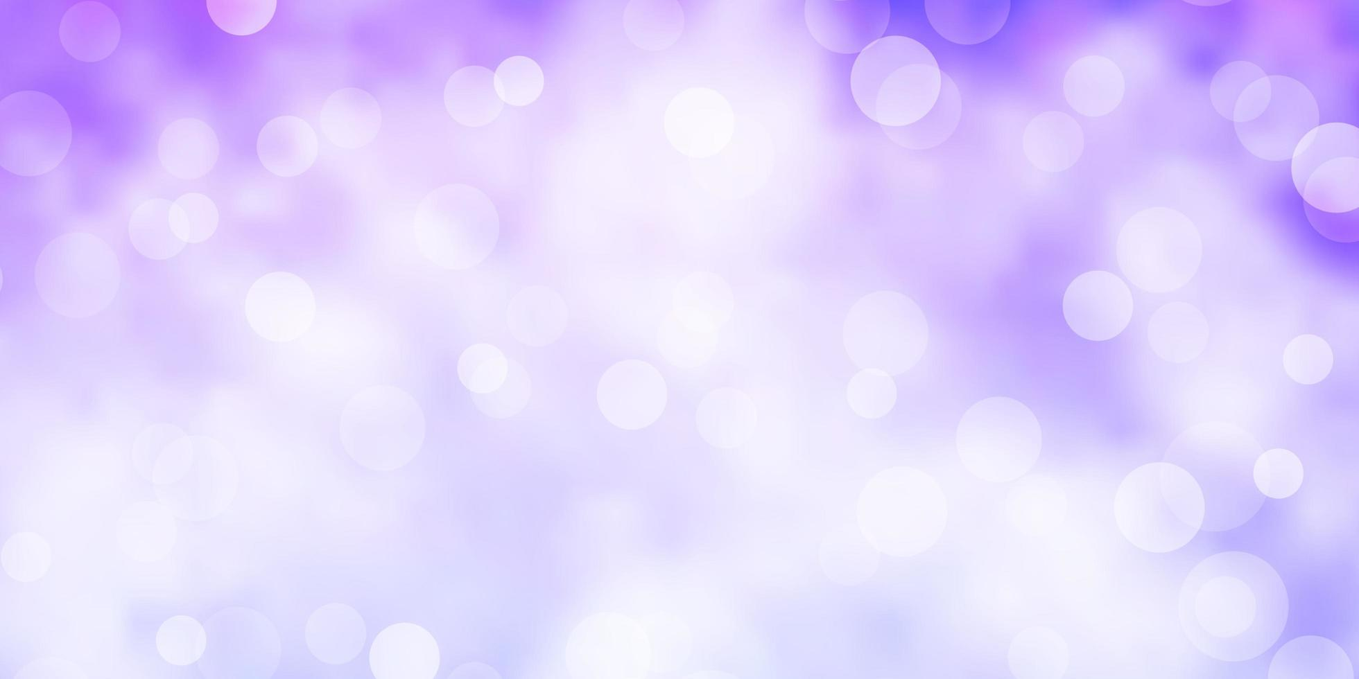 Light Purple vector background with bubbles.