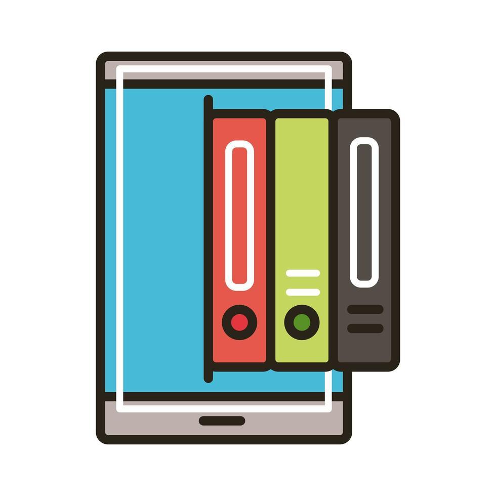 libros electrónicos en teléfonos inteligentes, educación en línea vector