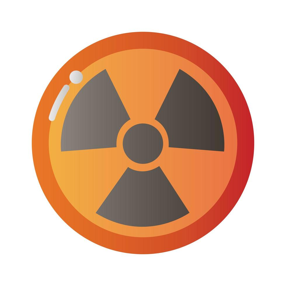 nuclear caution signal icon vector
