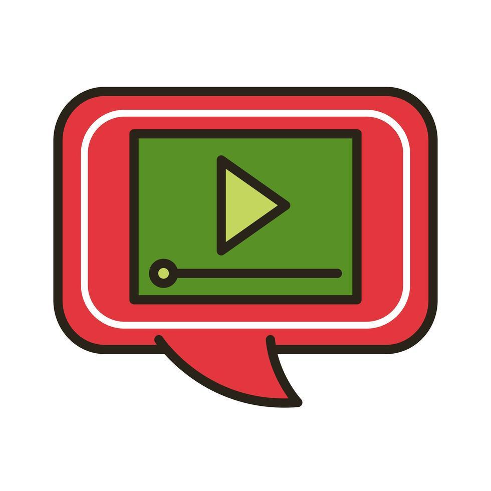 reproductor multimedia en bocadillo vector