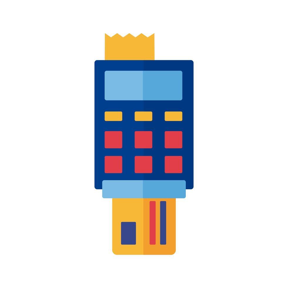 tarjeta de crédito con pago de cupón estilo plano en línea vector