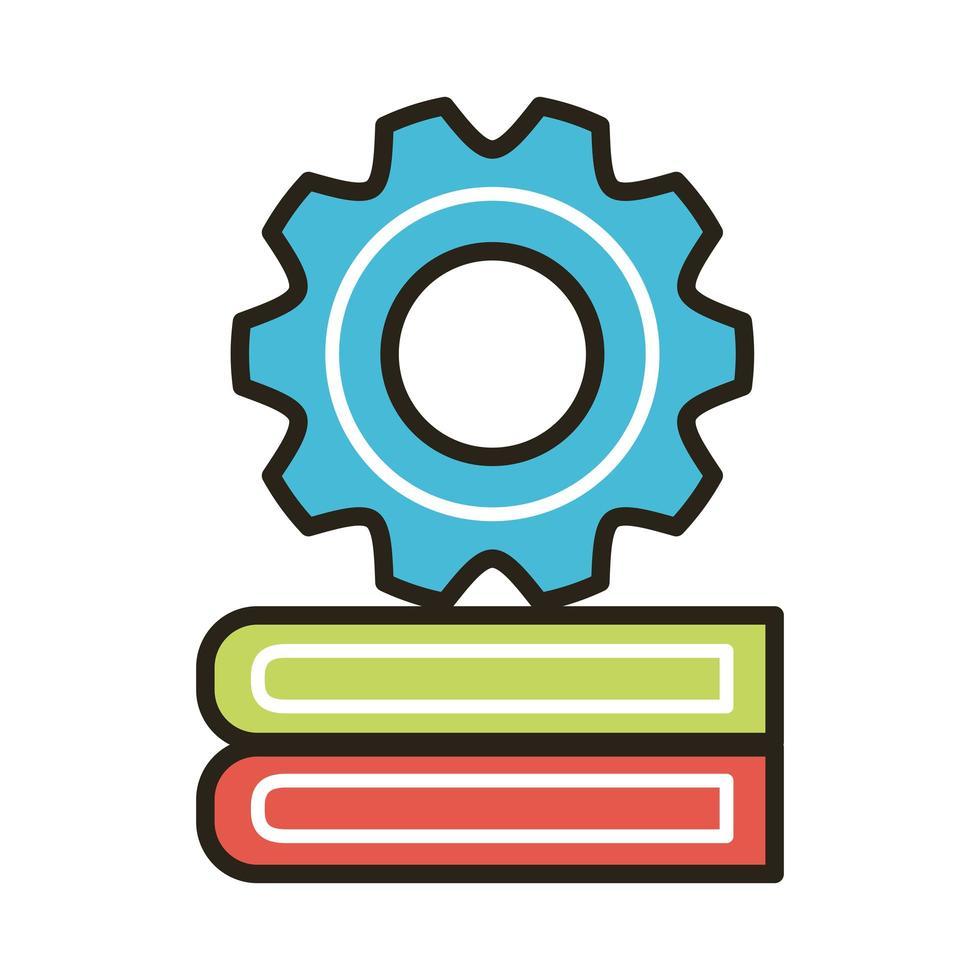 libros electrónicos con equipo vector