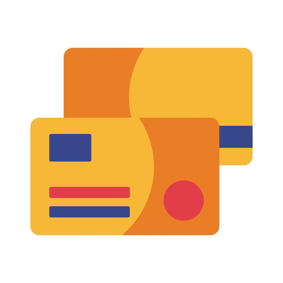 pago con tarjetas de crédito en línea estilo plano vector