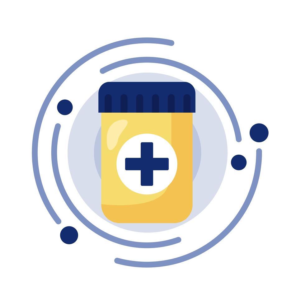 bottle of prescription drugs vector