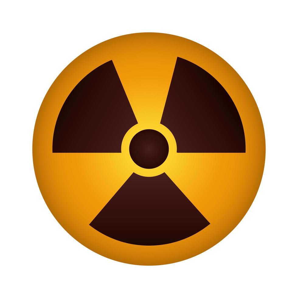 nuclear caution signal icon vector