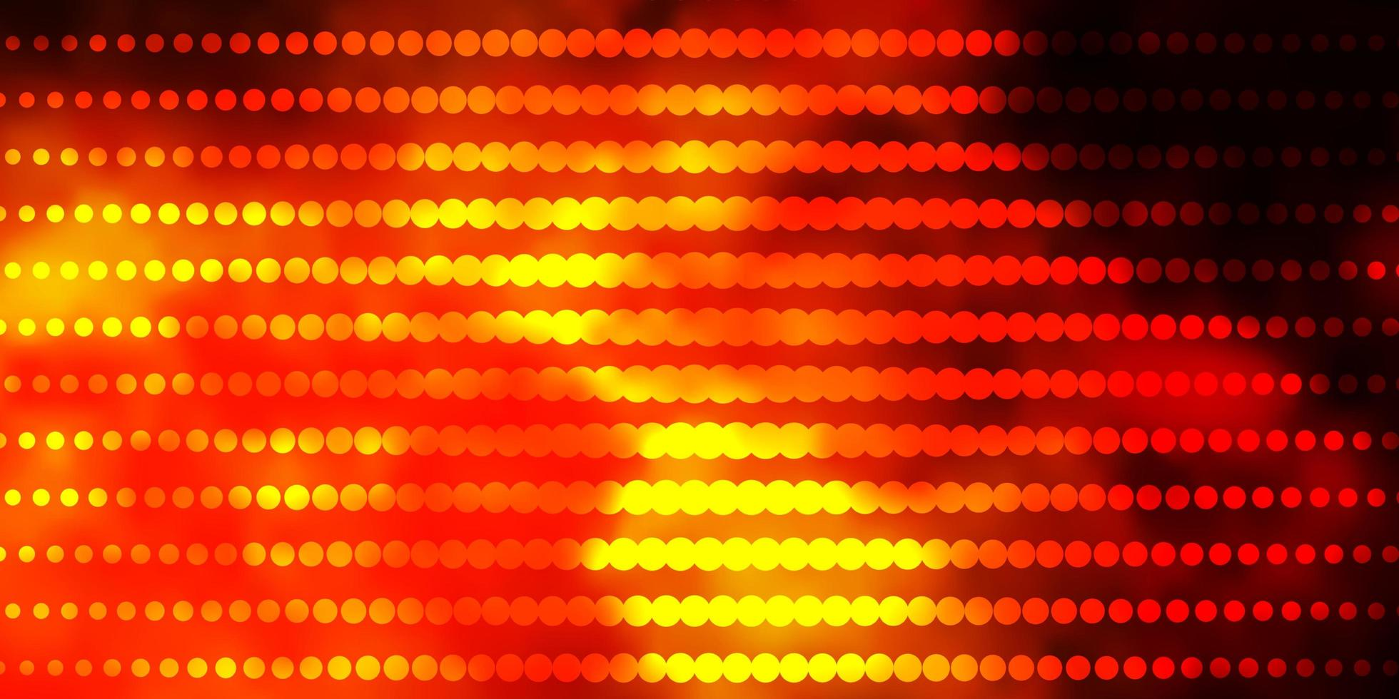 Telón de fondo de vector naranja oscuro con círculos.