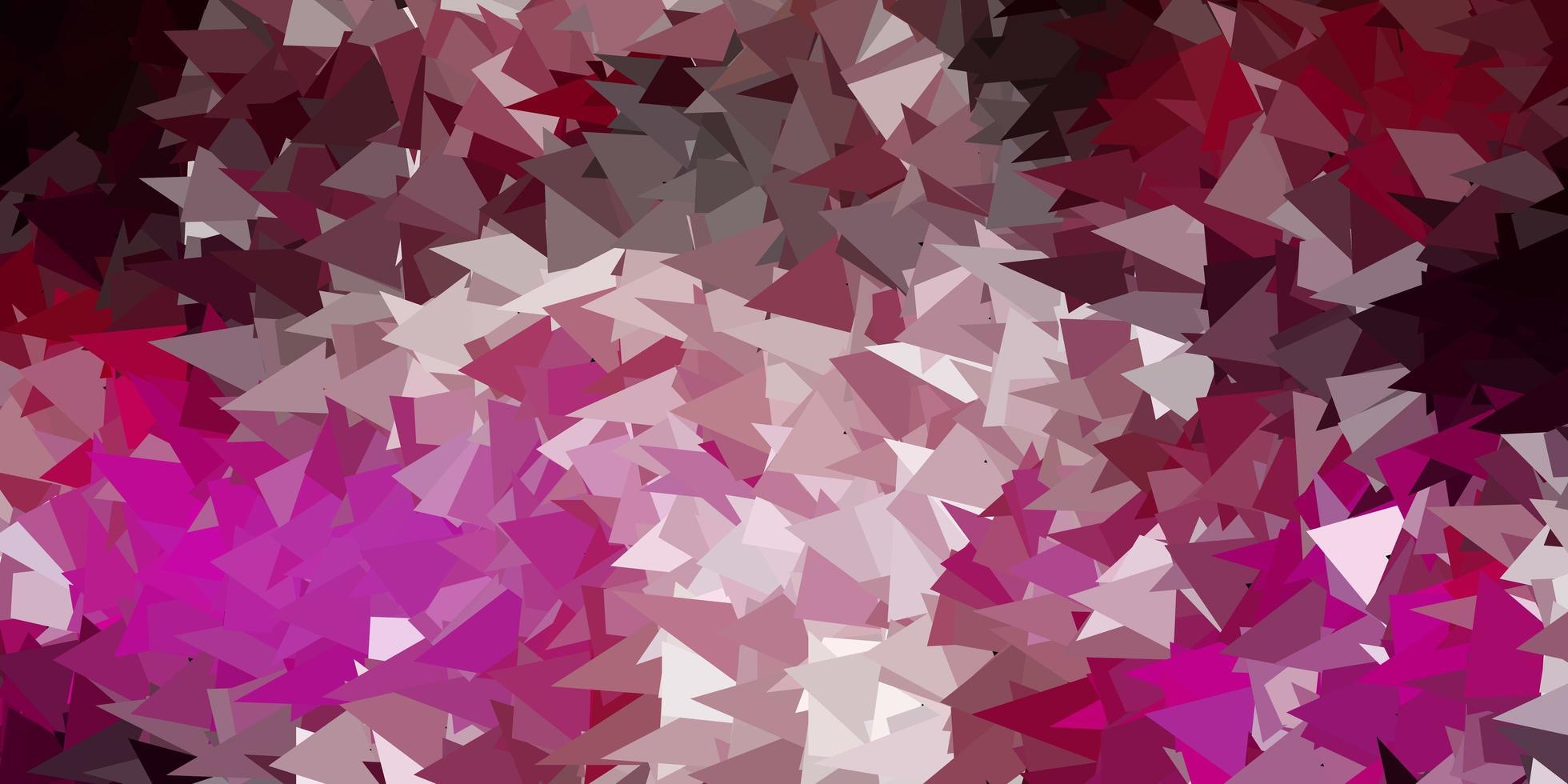 papel tapiz poligonal geométrico vector rosa oscuro.