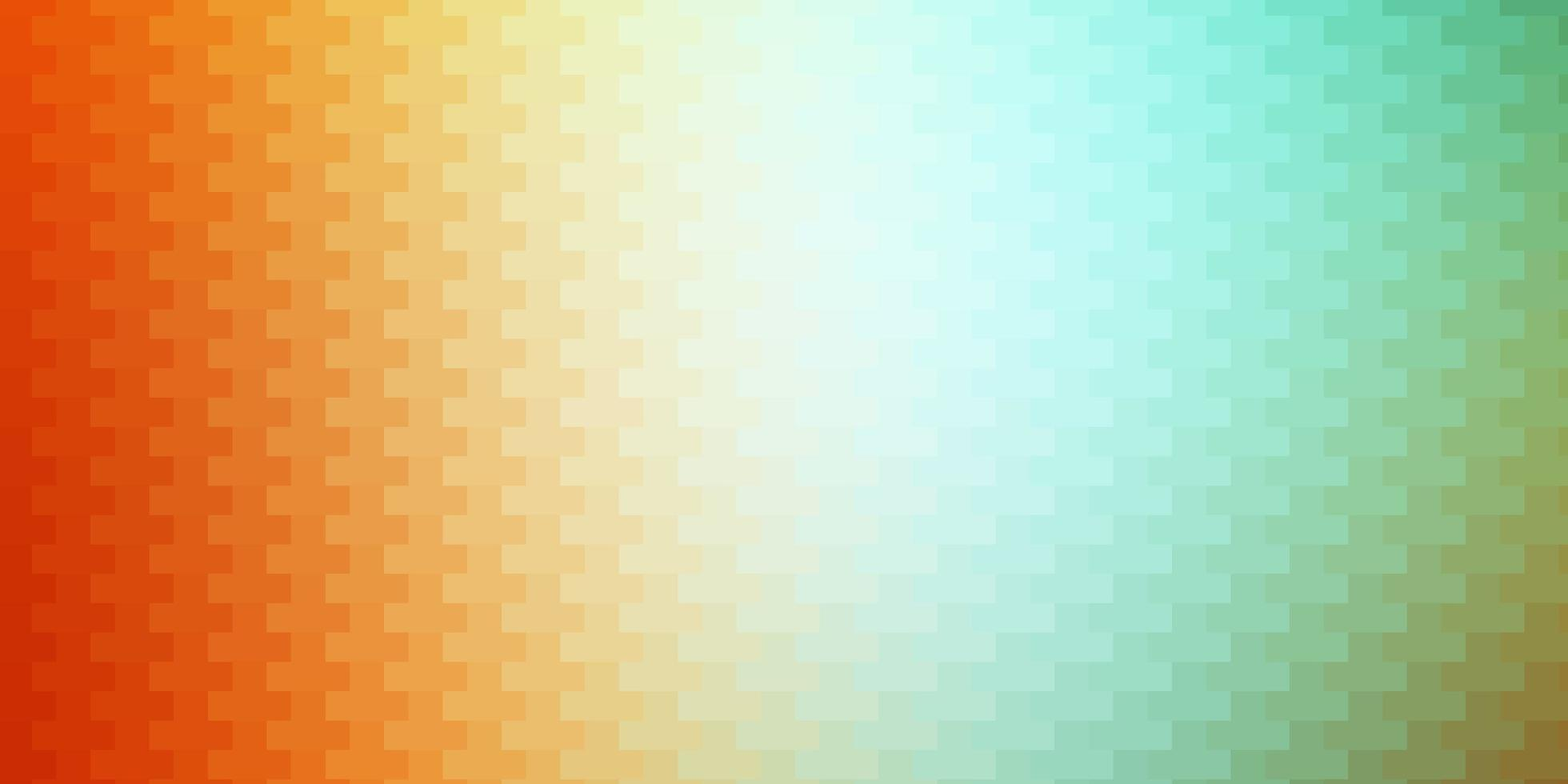 Light Green, Yellow vector background with rectangles.