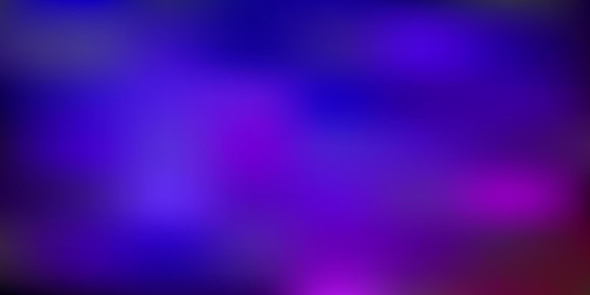 Dibujo de desenfoque abstracto de vector azul oscuro, rojo.