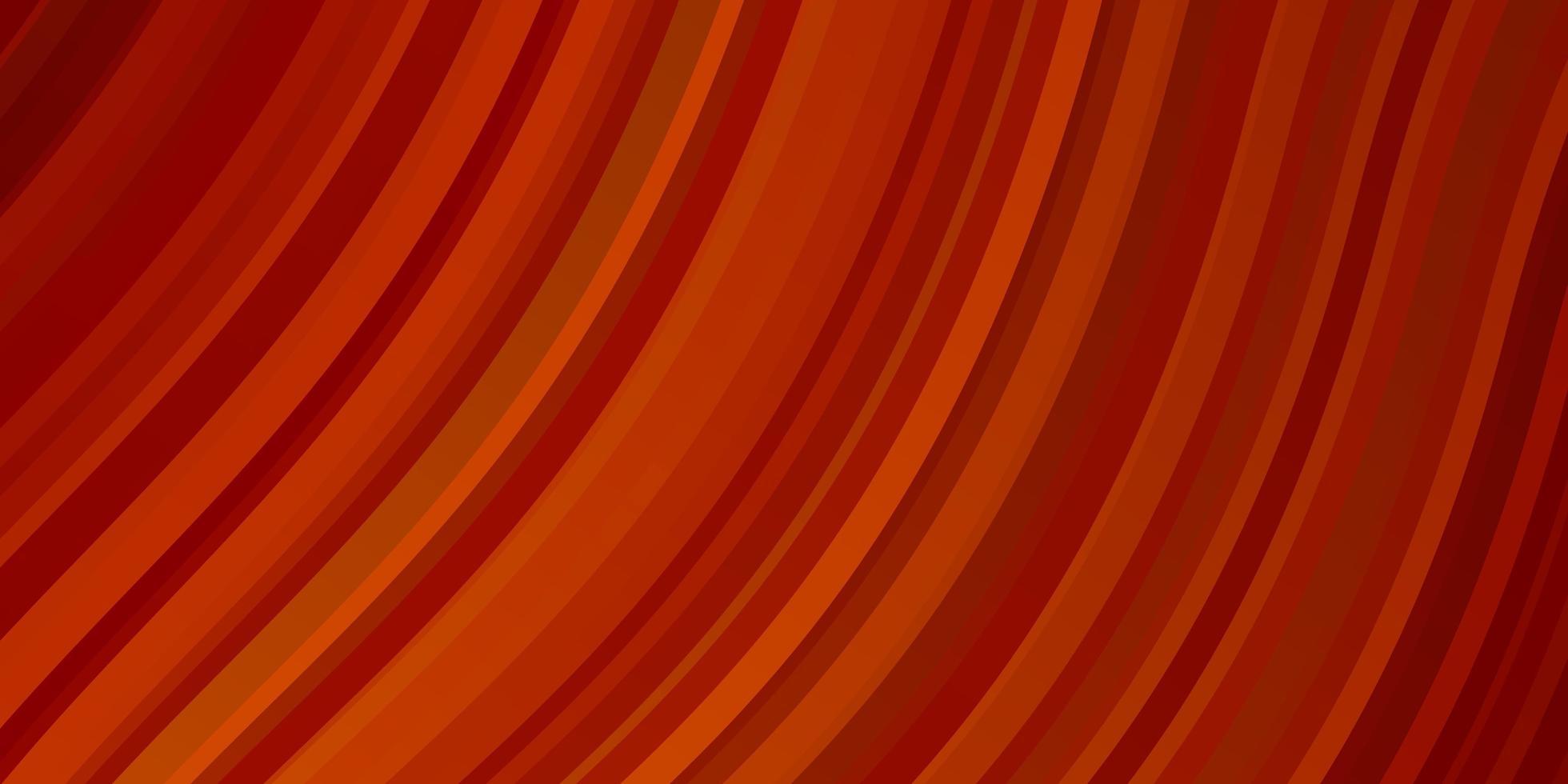 plantilla de vector naranja claro con líneas torcidas.