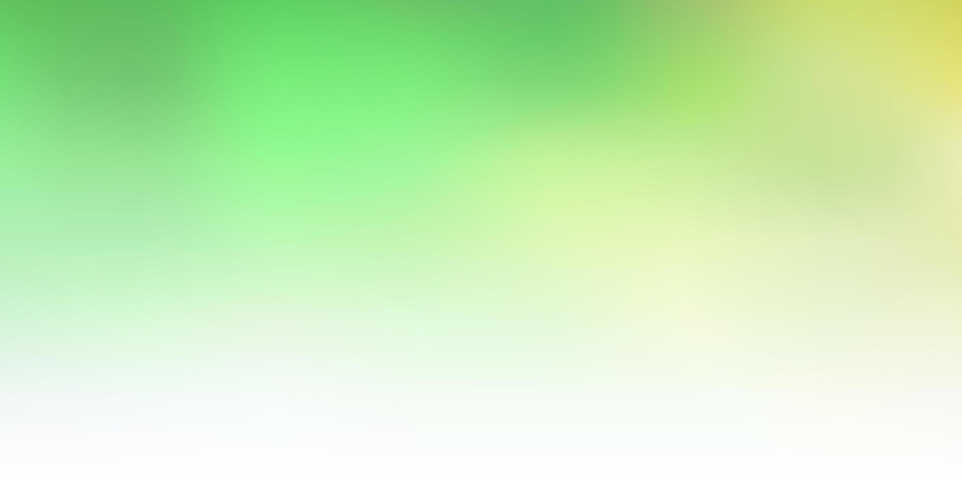 Fondo de desenfoque abstracto de vector verde claro, amarillo.