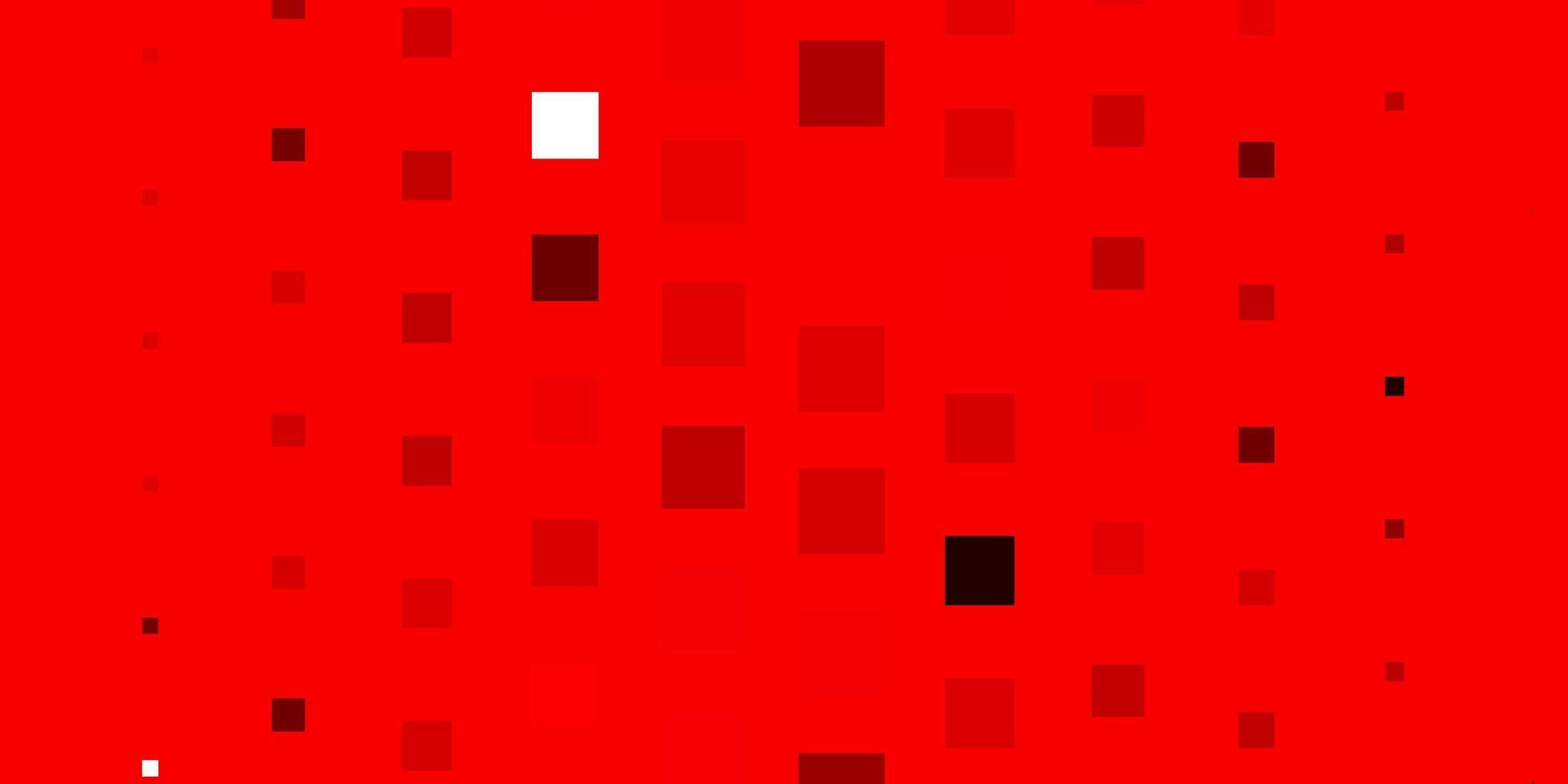 patrón de vector rojo claro en estilo cuadrado.