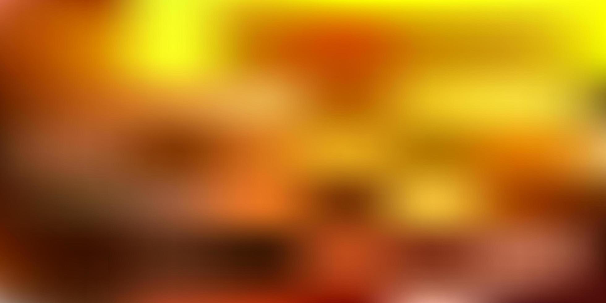 Fondo de desenfoque abstracto de vector verde oscuro, amarillo.