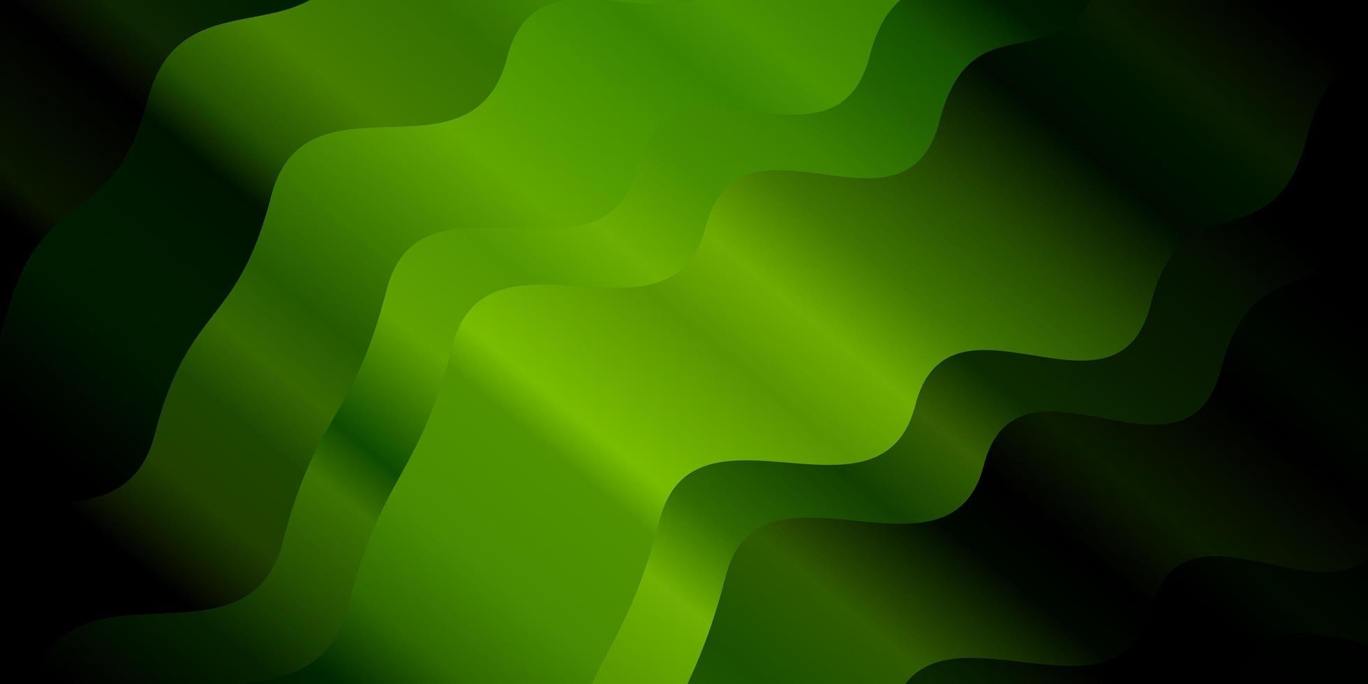 Fondo de vector verde oscuro con líneas dobladas.
