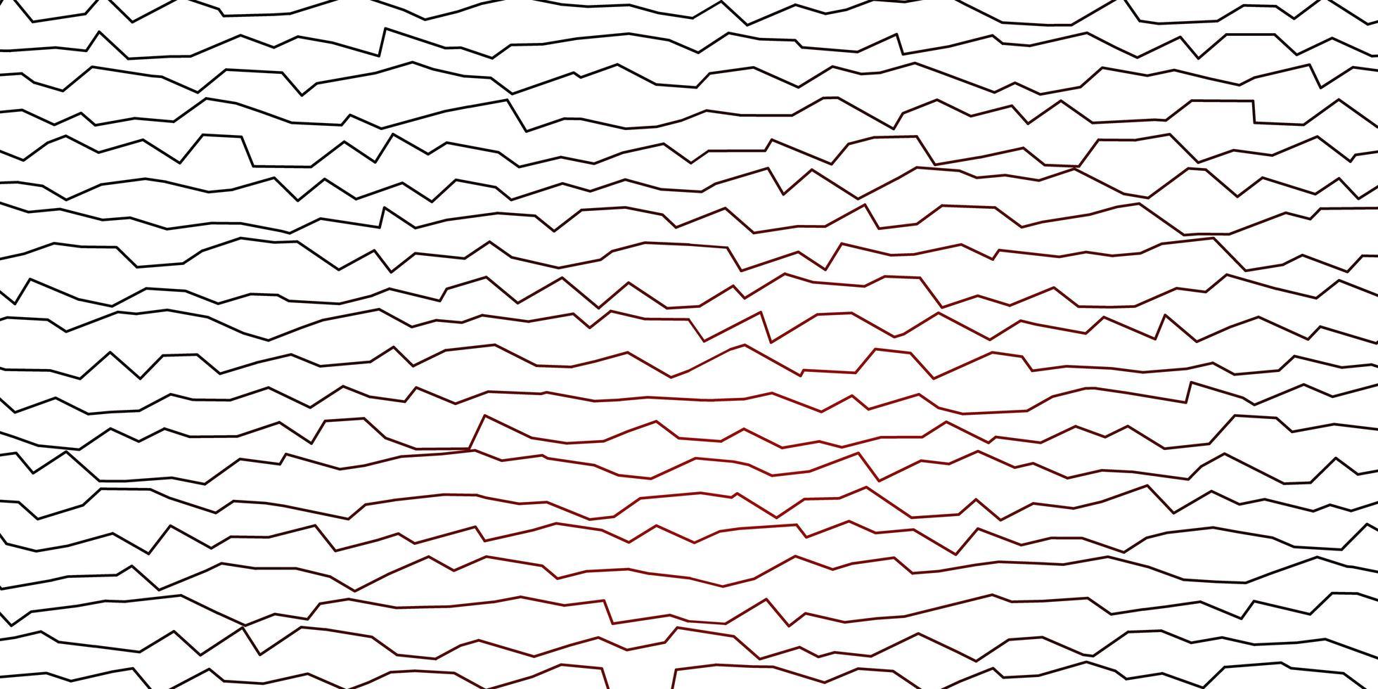 plantilla de vector rojo oscuro con curvas.