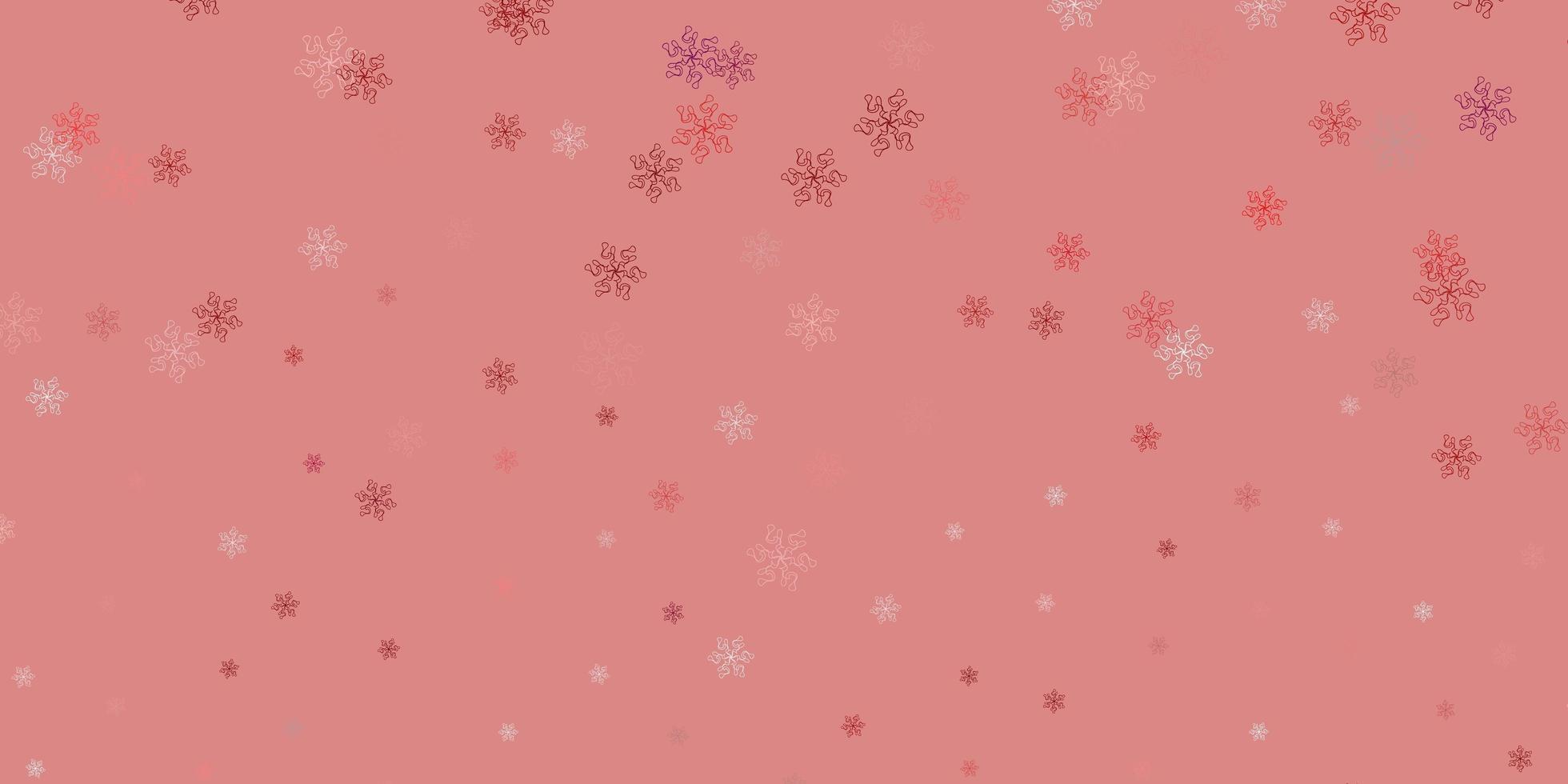 plantilla de doodle de vector rosa claro, rojo con flores.
