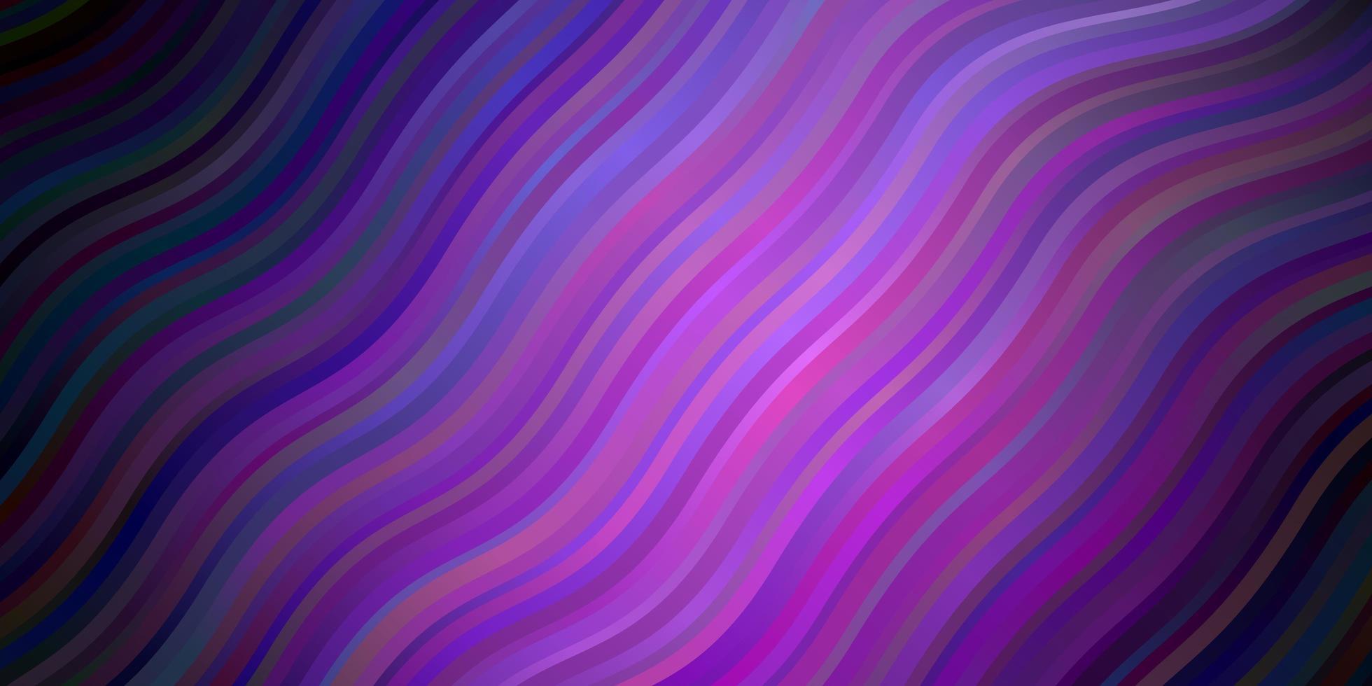 plantilla de vector de color púrpura oscuro, rosa con curvas.