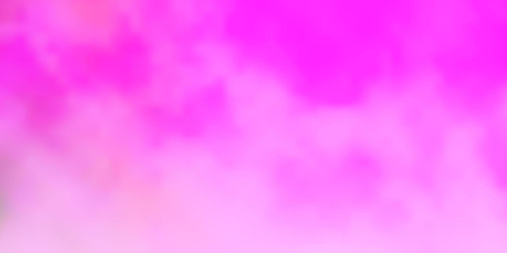 patrón de vector rosa claro con nubes.