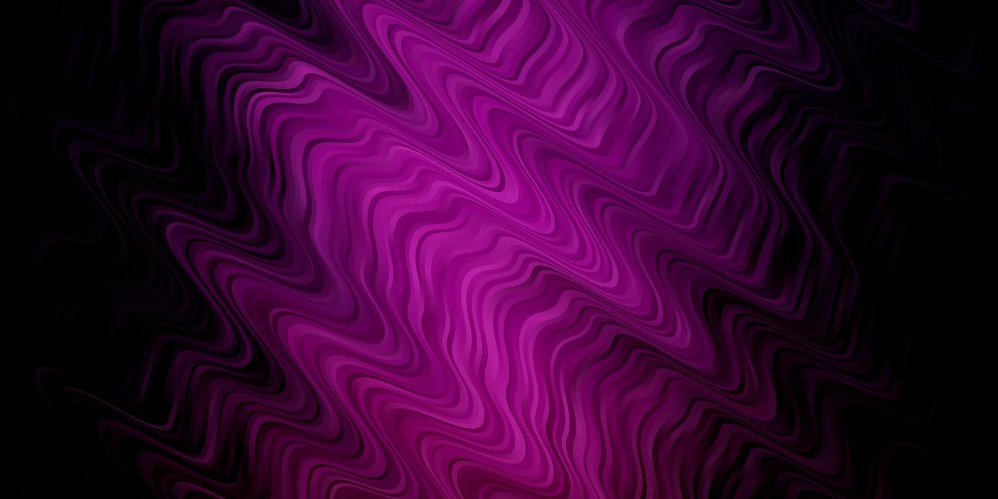 patrón de vector púrpura oscuro con curvas.