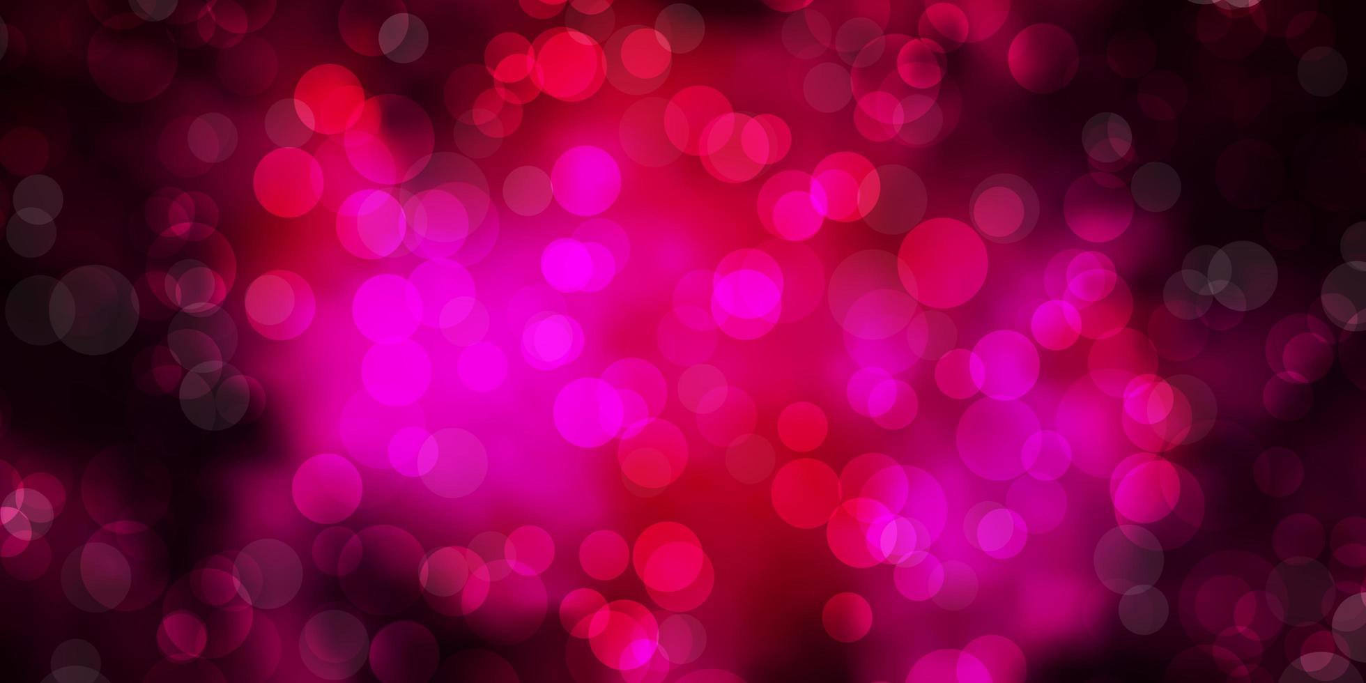 Telón de fondo de vector rosa oscuro con puntos.