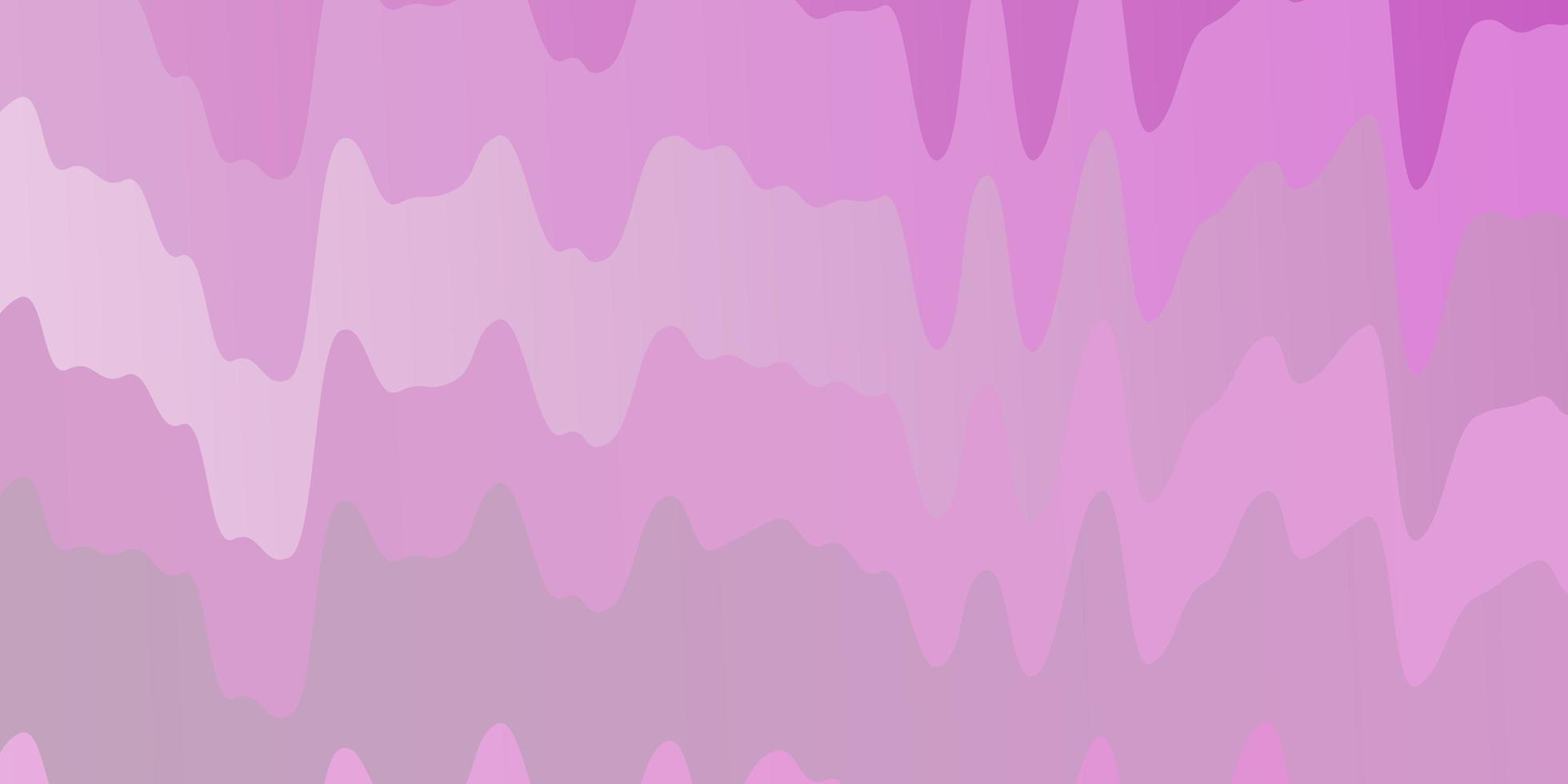 patrón de vector rosa claro con líneas torcidas.