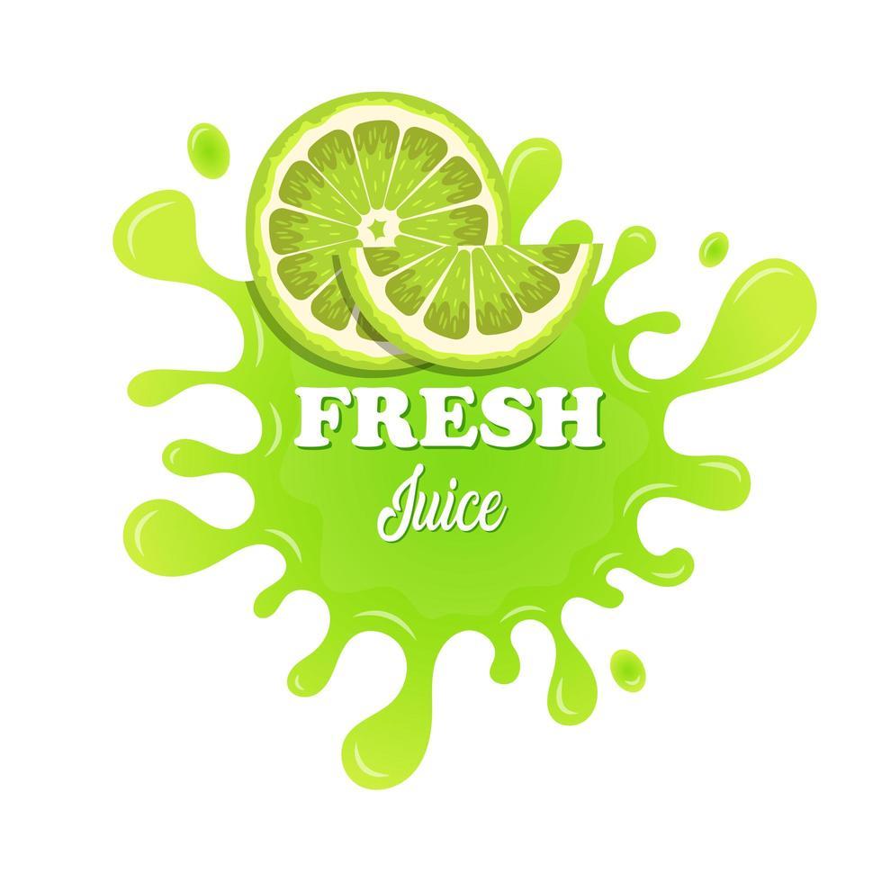 salpicaduras de jugo de fruta ilustración de diseño vectorial aislado sobre fondo blanco vector