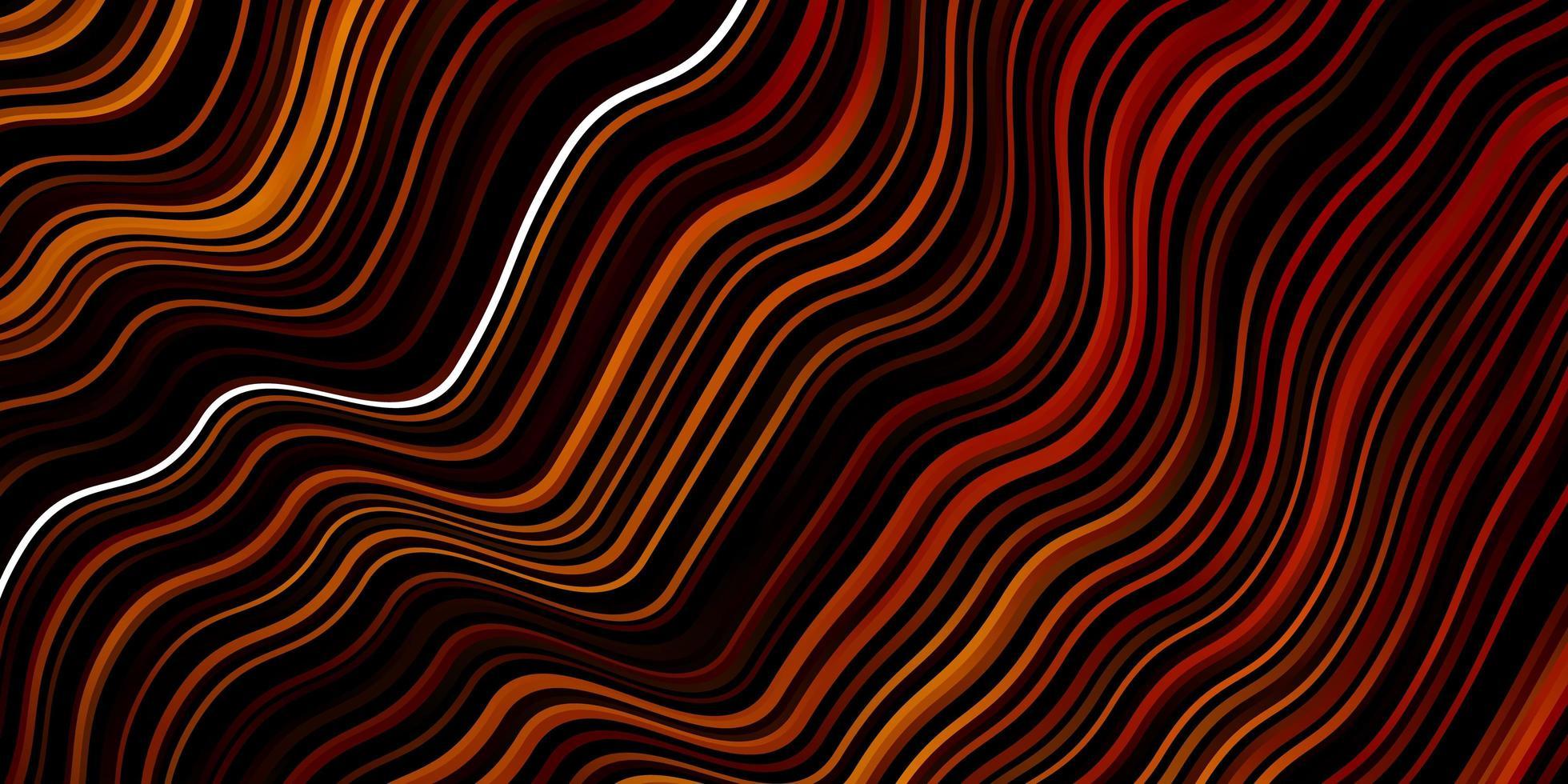 Telón de fondo de vector naranja oscuro con arco circular.