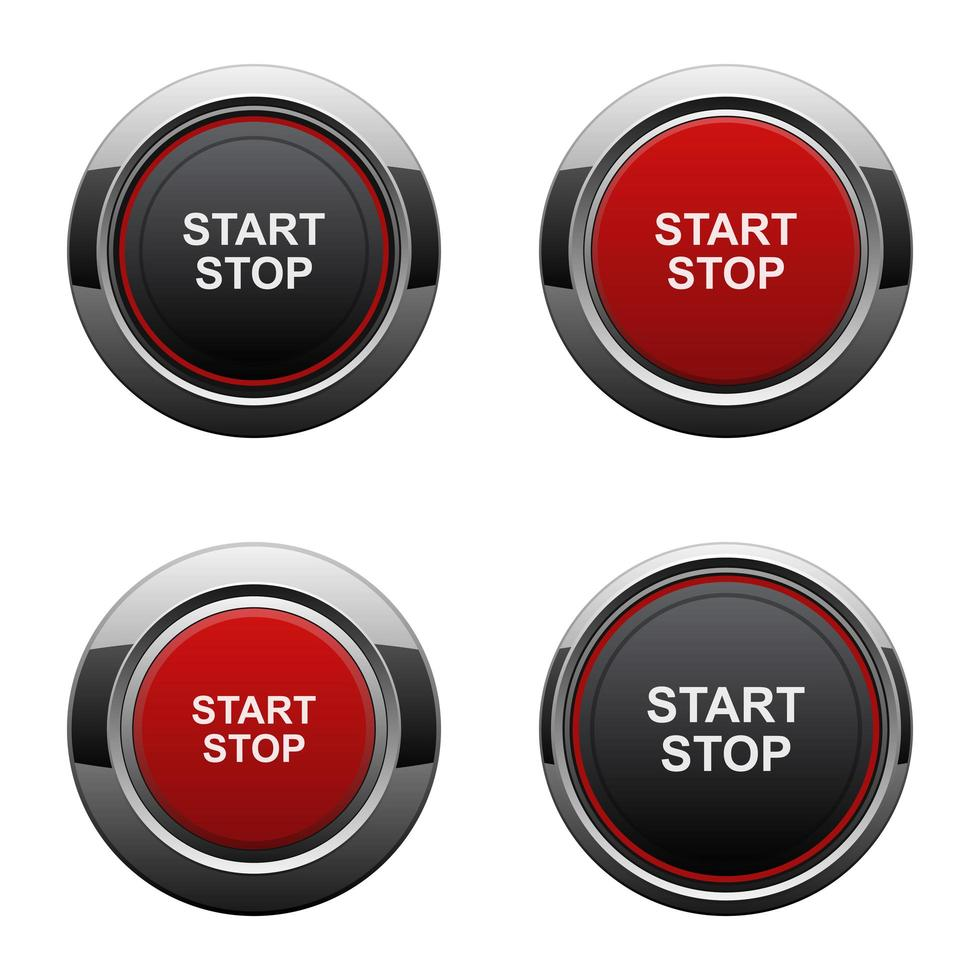 Start engine button vector design illustration isolated on white background