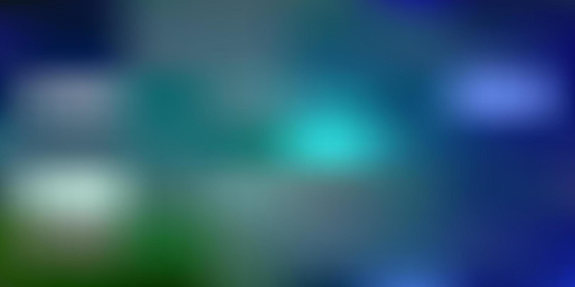 Fondo de desenfoque abstracto de vector azul claro, verde.
