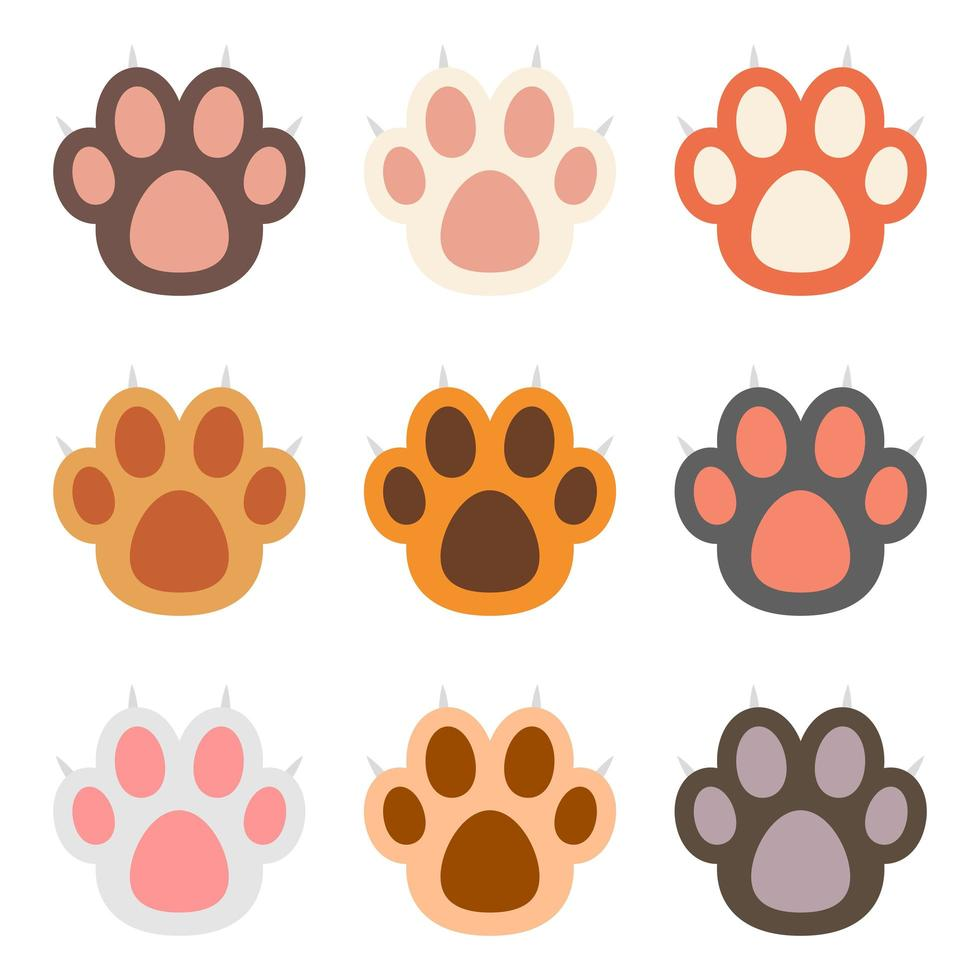 Cat paw vector design illustration isolated on white background