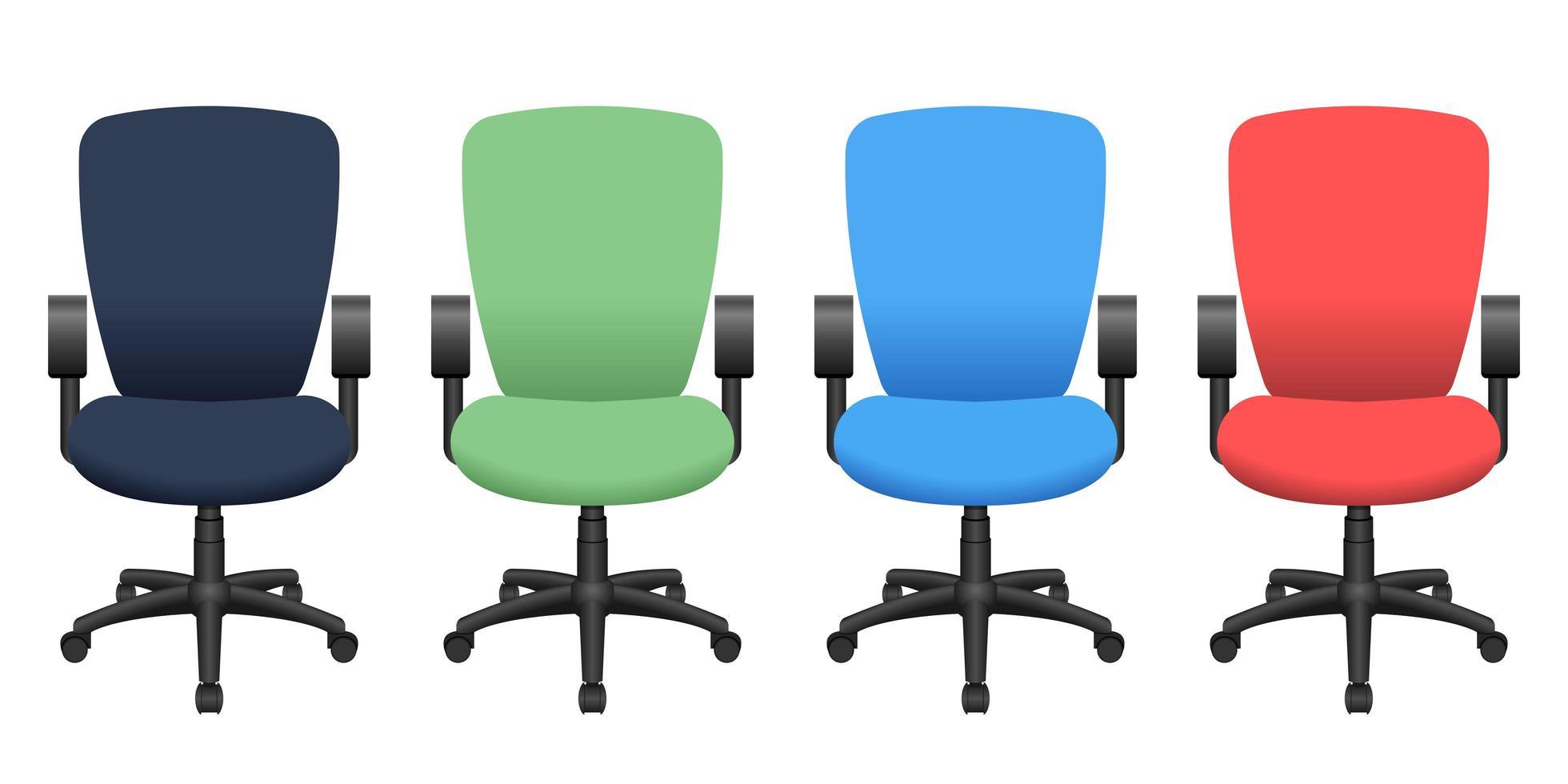 Ilustración de diseño de vector de silla de oficina aislado sobre fondo blanco