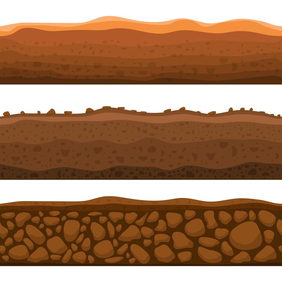 Seamless ground section vector design illustration isolated on white background