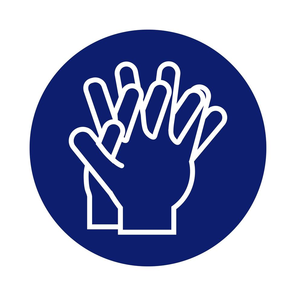 hands washing block style icon vector