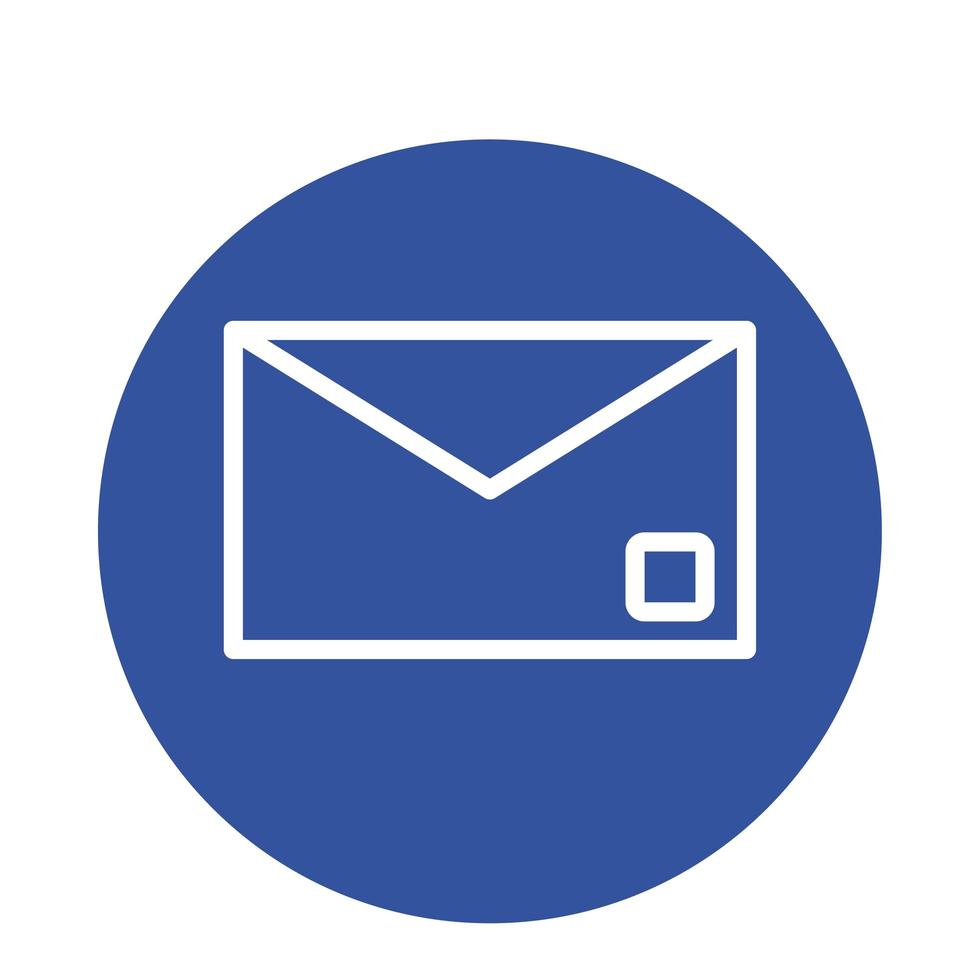 envelope mail send block style icon vector