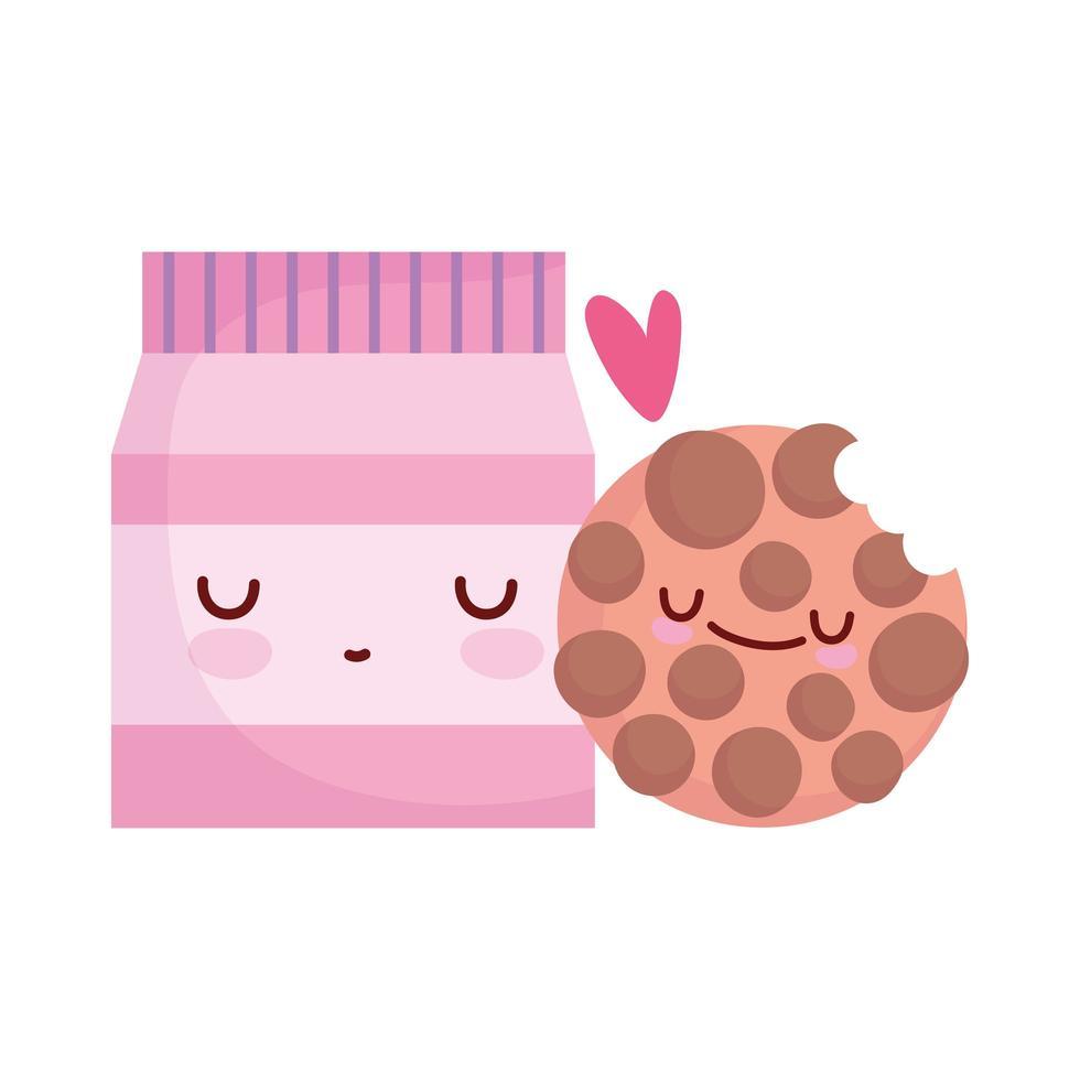 package cookie menu character cartoon food cute vector