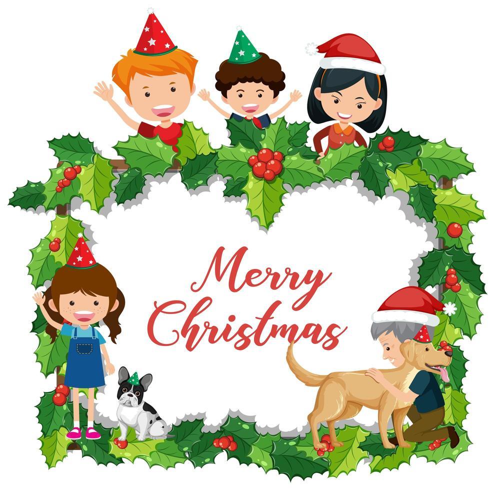 banner de feliz navidad aislado vector