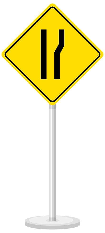 Yellow traffic warning sign on white background vector