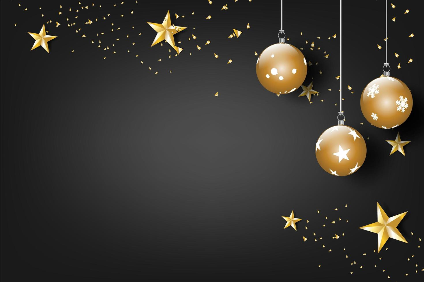 Merry Christmas and happy new year celebration banner vector